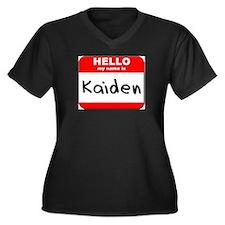 Hello my name is Kaiden Women's Plus Size V-Neck D