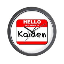 Hello my name is Kaiden Wall Clock
