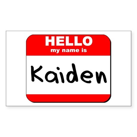 Hello my name is Kaiden Rectangle Sticker