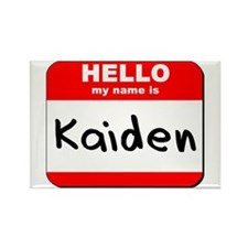 Hello my name is Kaiden Rectangle Magnet