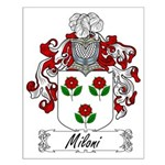 Miloni Family Crest Small Poster