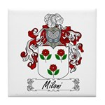 Miloni Family Crest Tile Coaster