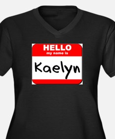 Hello my name is Kaelyn Women's Plus Size V-Neck D
