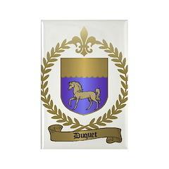 DUQUET Family Crest Rectangle Magnet