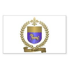 DUQUET Family Crest Rectangle Decal