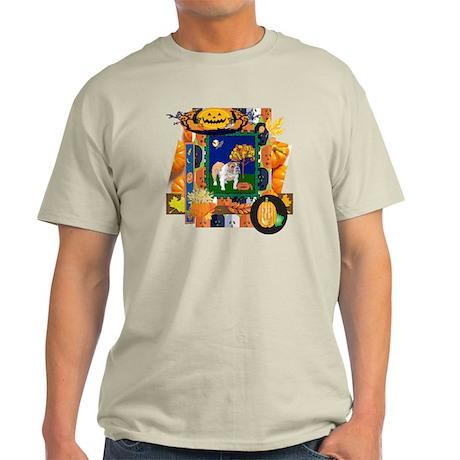 Scrapbook Bulldog Halloween Light T-Shirt