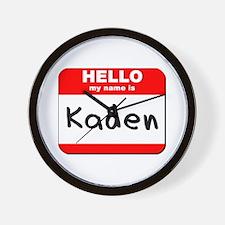 Hello my name is Kaden Wall Clock