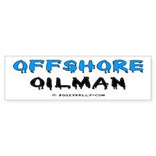 Offshore Oilman Bumper Car Sticker