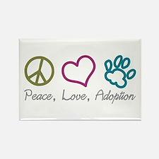 Peace, Love, Adoption Rectangle Magnet