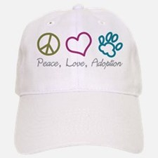 Peace, Love, Adoption Baseball Baseball Cap