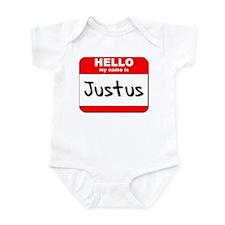 Hello my name is Justus Infant Bodysuit