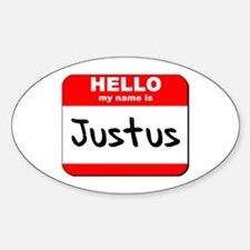Hello my name is Justus Oval Decal