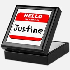 Hello my name is Justine Keepsake Box