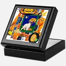 Scrapbook Afghan Hound Halloween Keepsake Box