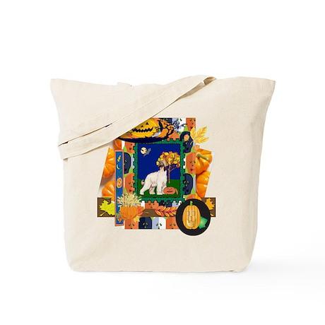 Scrapbook Afghan Hound Halloween Tote Bag