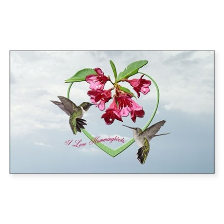 I love hummingbirds Rectangle Sticker