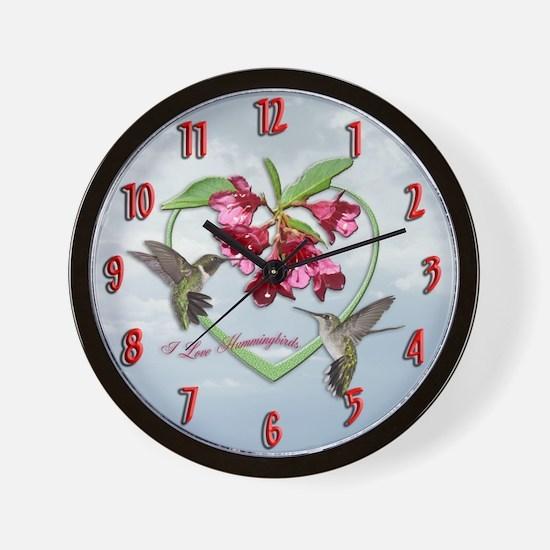 I love hummingbirds Wall Clock