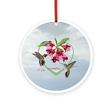 I love hummingbirds Ornament (Round)