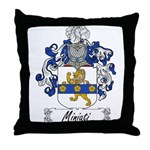 Miniati Family Crest Throw Pillow