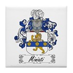 Miniati Family Crest Tile Coaster