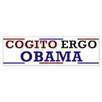Cogito Ergo Obama Bumper Sticker