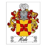 Miolo Family Crest Small Poster