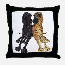 NNBlkBr Lean Throw Pillow