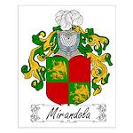 Mirandola Family Crest Small Poster