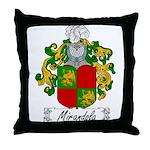 Mirandola Family Crest Throw Pillow