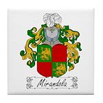 Mirandola Family Crest Tile Coaster