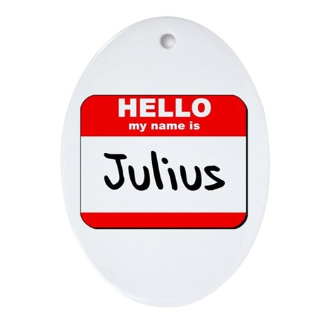 Hello my name is Julius Oval Ornament