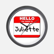 Hello my name is Juliette Wall Clock