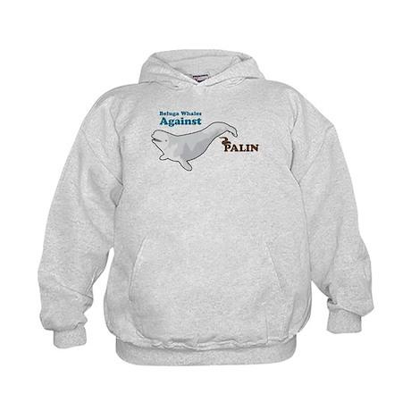 Beluga Whales Against Palin Kids Hoodie