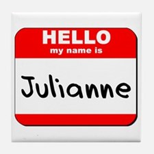Hello my name is Julianne Tile Coaster