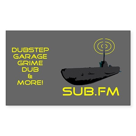 SUB.FM Rectangle Sticker
