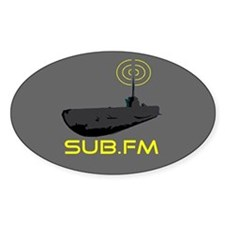 SUB.FM Oval Decal