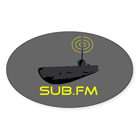 SUB.FM Oval Sticker