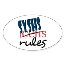SYS rules Oval Decal