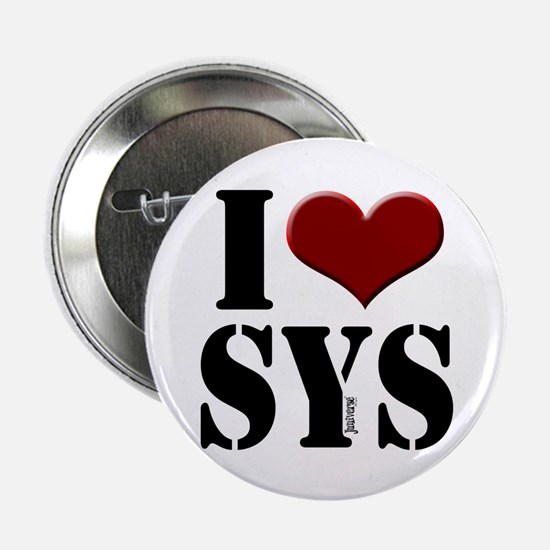 """I love SYS 2.25"""" Button (10 pack)"""
