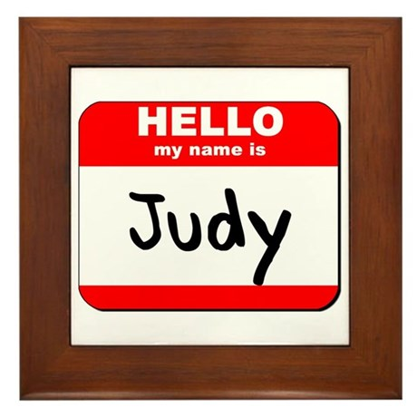 Hello my name is Judy Framed Tile
