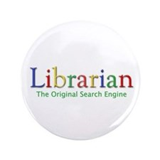"""Librarian 3.5"""" Button (100 pack)"""