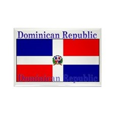 Dominican Republic Flag Rectangle Magnet