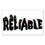Reliable Rectangle Sticker
