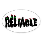 Reliable Oval Sticker