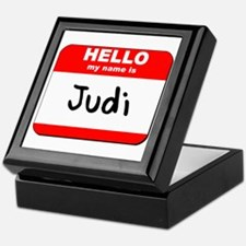 Hello my name is Judi Keepsake Box