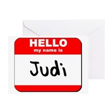 Hello my name is Judi Greeting Card