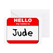 Hello my name is Jude Greeting Card
