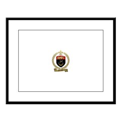 DUMONT Family Crest Large Framed Print