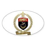 DUMONT Family Crest Oval Sticker
