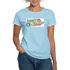 Jane Loves Dick Women's Pink T-Shirt